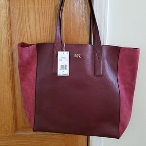 Michael Kors large leather tote new with tags!